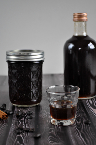 Homemade spiced coffee liqueur - emerald + ella blog