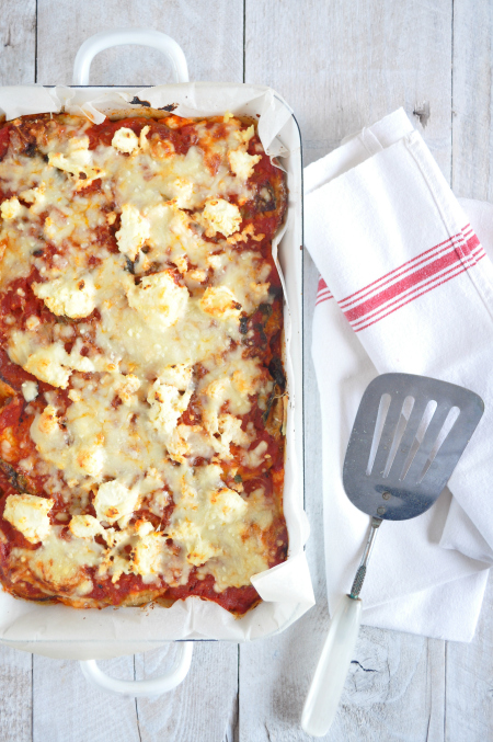 ... the classic eggplant parmigiana, and it's still totally delicious