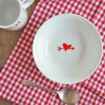 DIY Valentine's day breakfast set